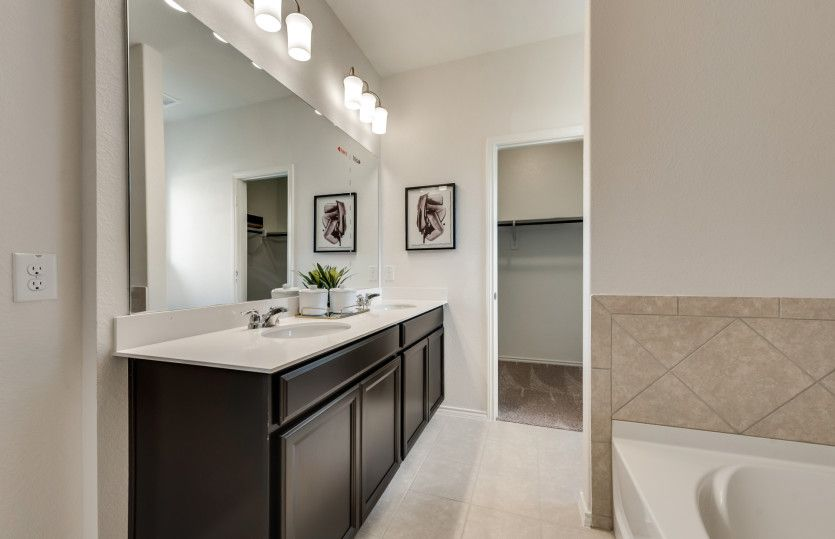 Bathroom featured in the Eastgate By Pulte Homes in Fort Worth, TX