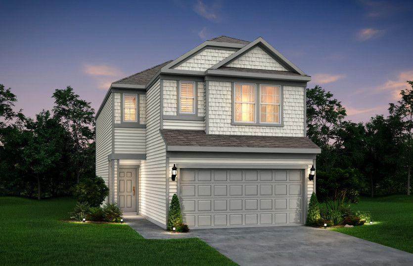 Exterior featured in the Blanchard By Pulte Homes in Houston, TX