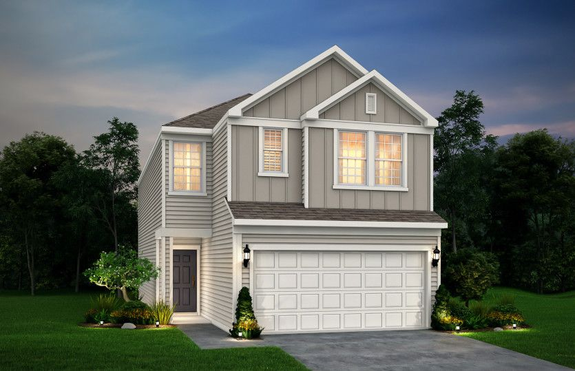 Exterior featured in the Mannford By Pulte Homes in Houston, TX