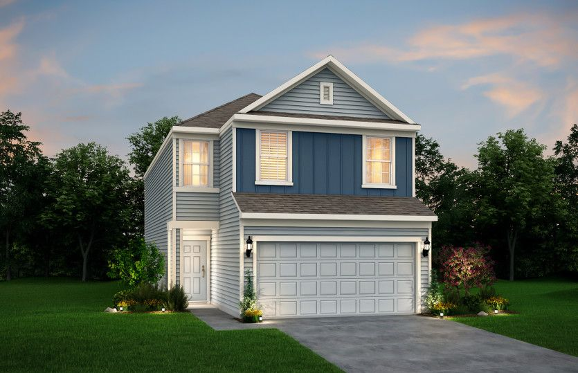 Exterior featured in the Duncan By Pulte Homes in Houston, TX