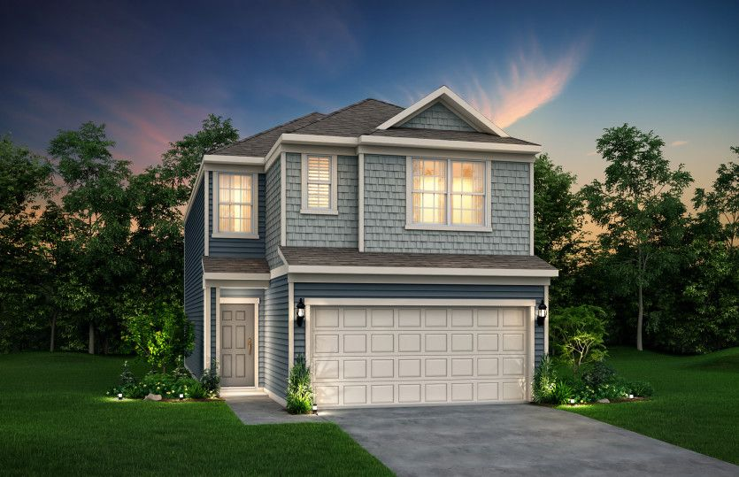 Exterior featured in the Cordell By Pulte Homes in Houston, TX