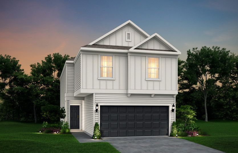 Exterior featured in the Stillwell By Pulte Homes in Houston, TX