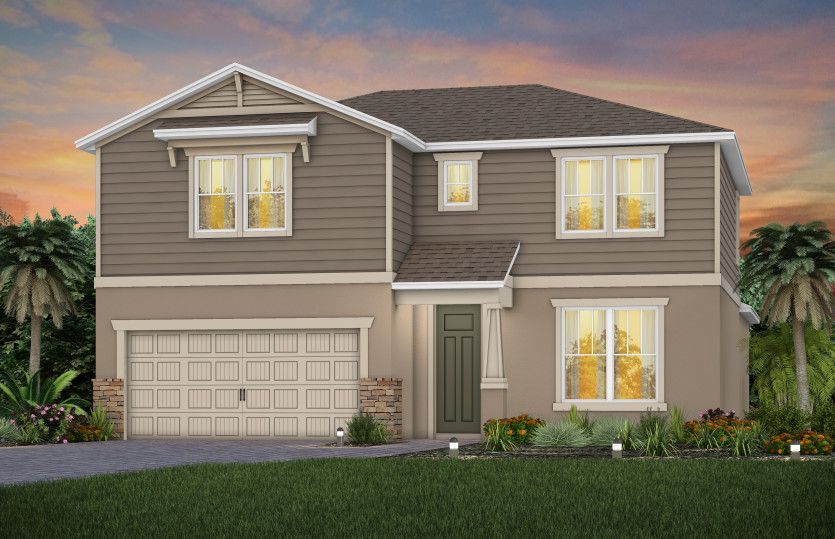 Exterior featured in the Whitestone By Pulte Homes in Orlando, FL