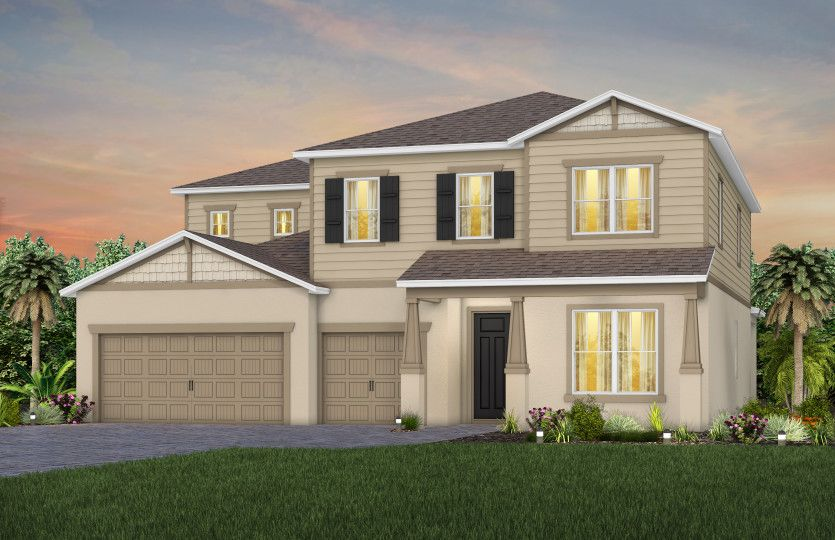 Exterior featured in the Oakhurst By Pulte Homes in Orlando, FL
