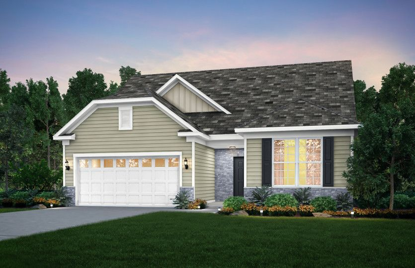 Exterior featured in the Abbeyville By Pulte Homes in Cleveland, OH