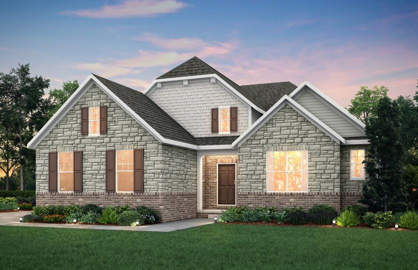Exterior featured in the Lyon (Ranch) By Pulte Homes in Detroit, MI