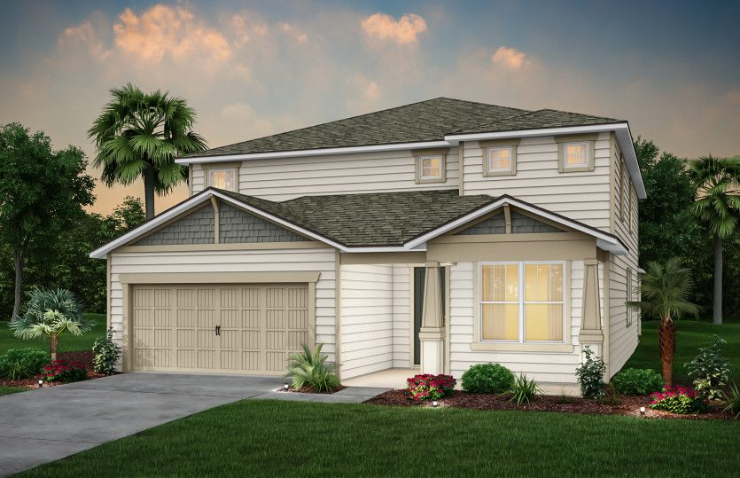 Exterior featured in the Yorkshire By Pulte Homes in Jacksonville-St. Augustine, FL