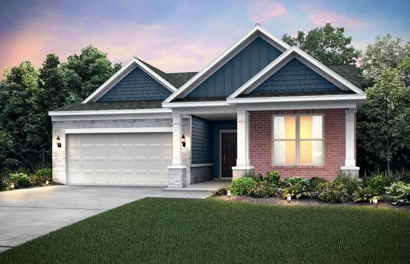Exterior featured in the Abbeyville By Pulte Homes in Ann Arbor, MI