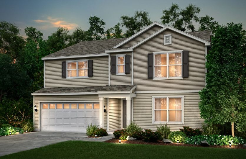Exterior featured in the Mitchell By Pulte Homes in Cleveland, OH