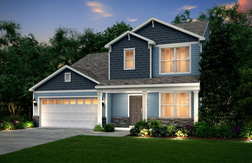 Exterior featured in the Oakdale By Pulte Homes in Akron, OH