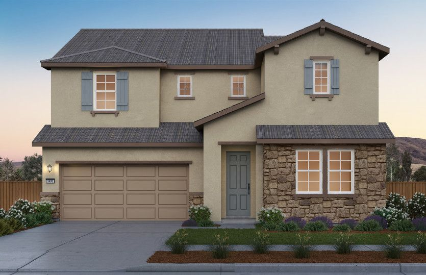 Exterior featured in the Roslyn By Pulte Homes in Stockton-Lodi, CA