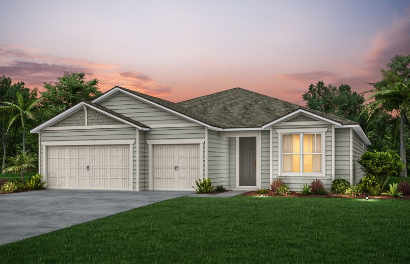 Exterior featured in the Ashby By Pulte Homes in Jacksonville-St. Augustine, FL