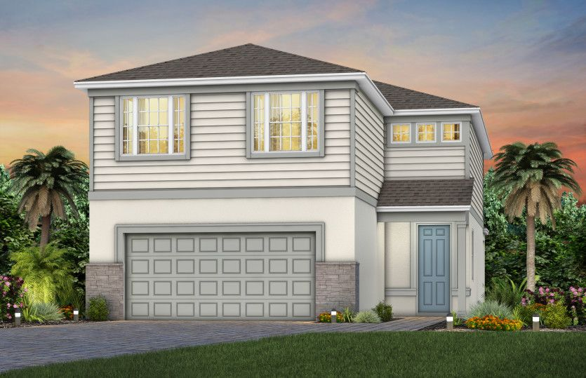 Exterior featured in the Trailside By Pulte Homes in Orlando, FL