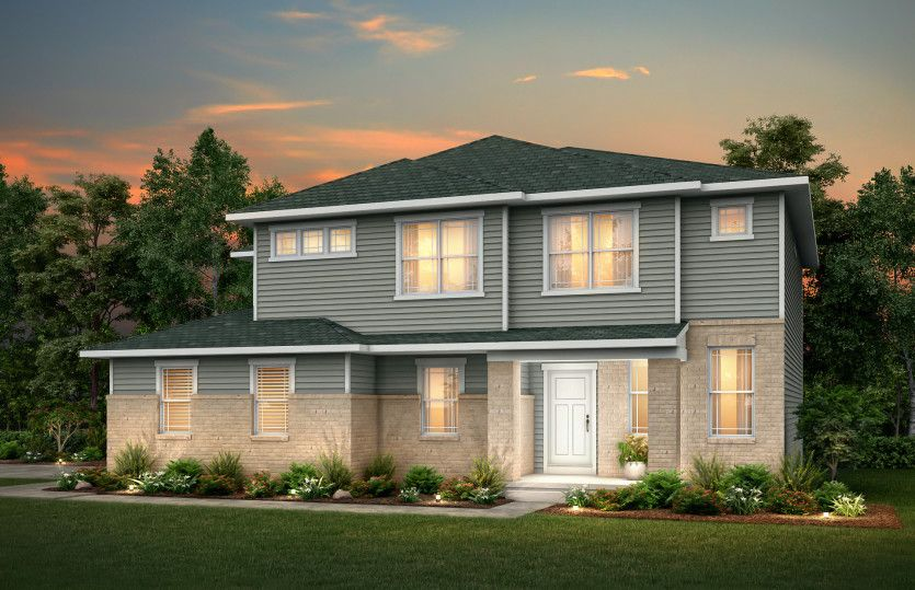 Exterior featured in the Greenfield By Pulte Homes in Louisville, KY