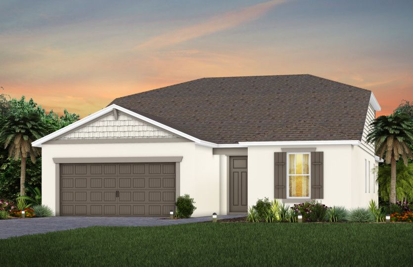 Exterior featured in the Mystique Grand By Pulte Homes in Orlando, FL