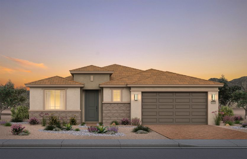 Exterior featured in the Cameron By Pulte Homes in Las Vegas, NV