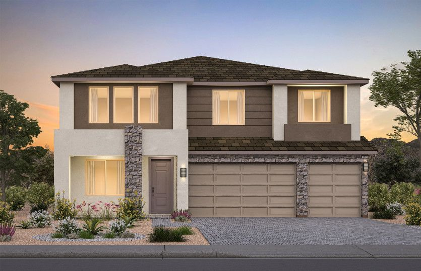 Exterior featured in the Layton By Pulte Homes in Las Vegas, NV