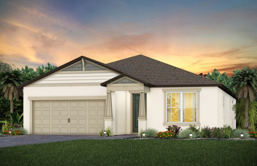 Exterior featured in the Spruce By Pulte Homes in Tampa-St. Petersburg, FL