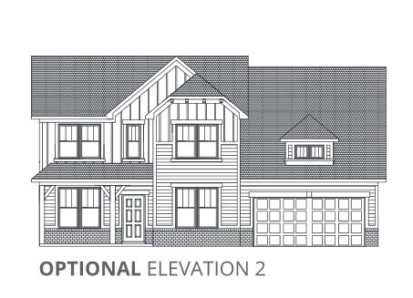 Exterior featured in the EX-3067 By Pyatt Builders  in Indianapolis, IN