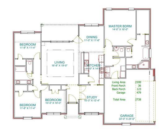 Plan 2209RP:Floor Plan