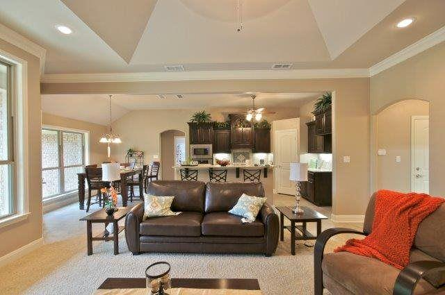 Living Area featured in the Plan 1577 By Pyramid Homes in Tyler, TX