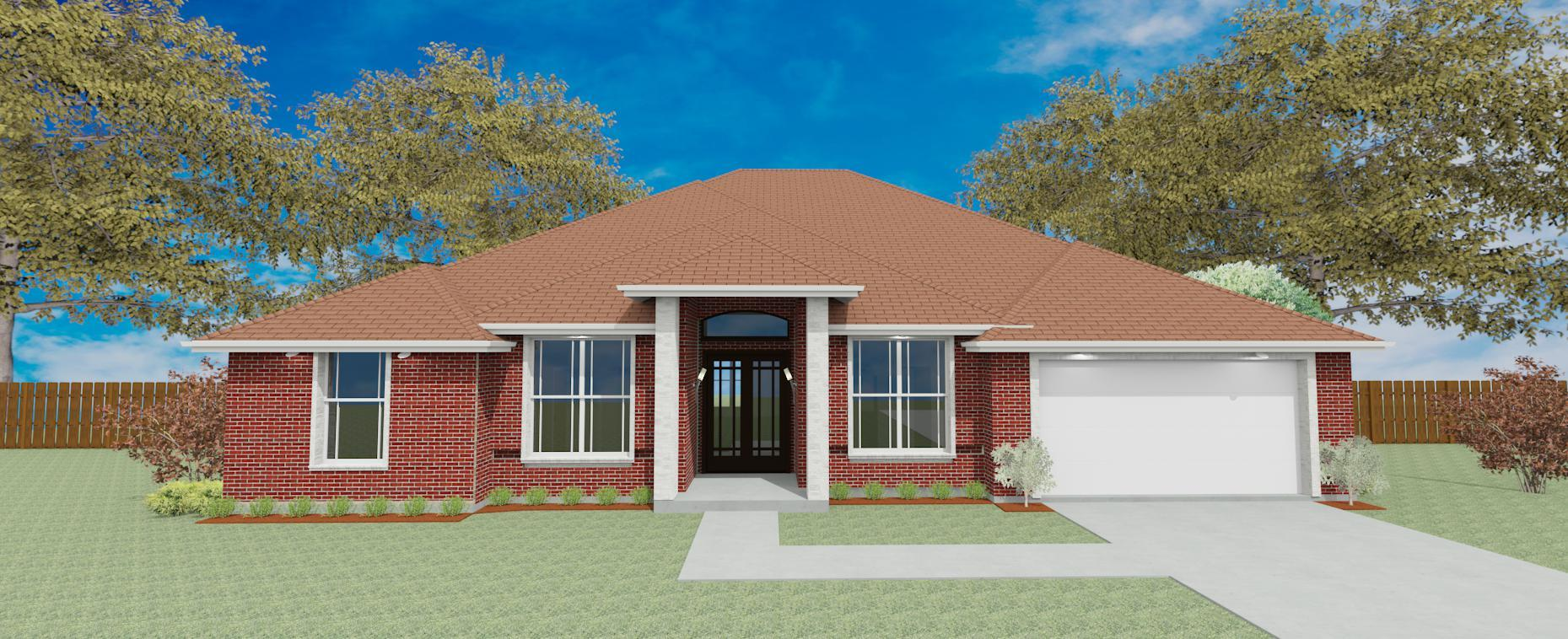 Exterior featured in the Plan 2858 By Pyramid Homes in Tyler, TX