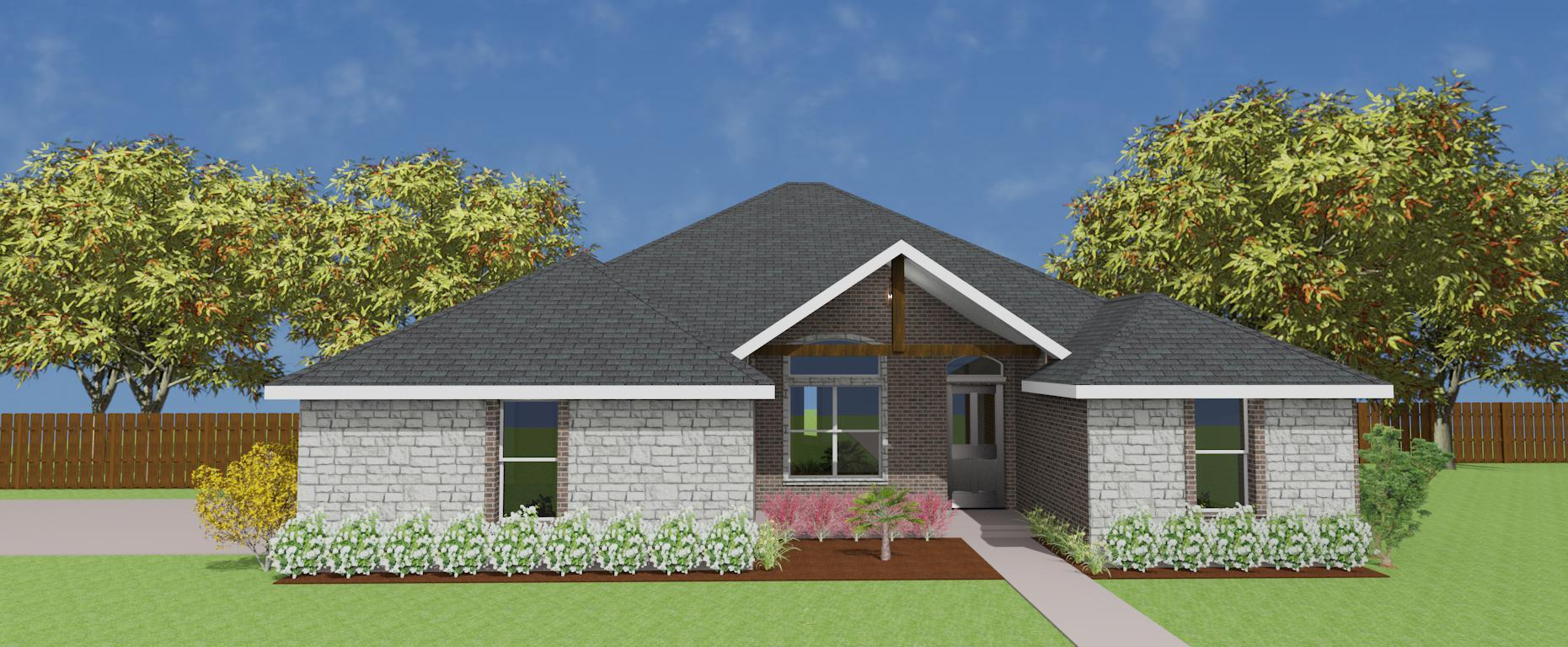 Exterior featured in the Plan 2332 By Pyramid Homes in Longview, TX