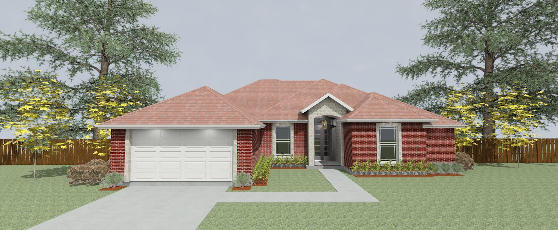Exterior featured in the Plan 2289 By Pyramid Homes in Tyler, TX