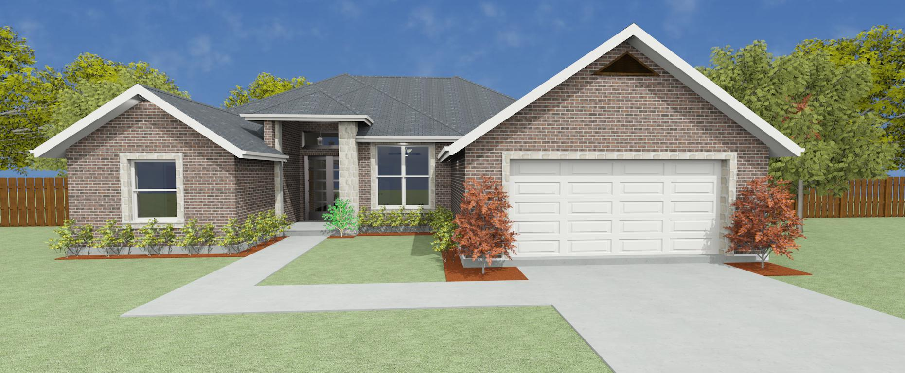 Exterior featured in the Plan 2281 By Pyramid Homes in Longview, TX