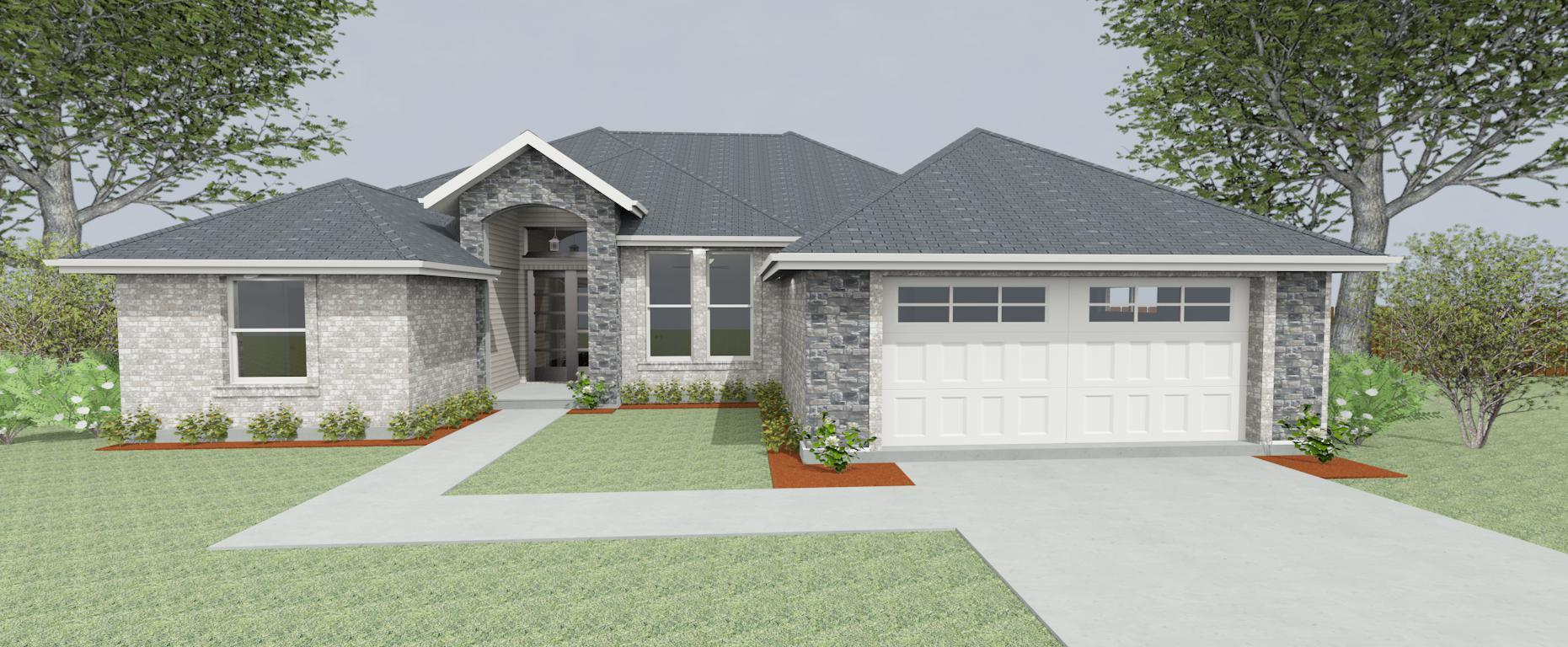 Exterior featured in the Plan 2281 By Pyramid Homes in Tyler, TX