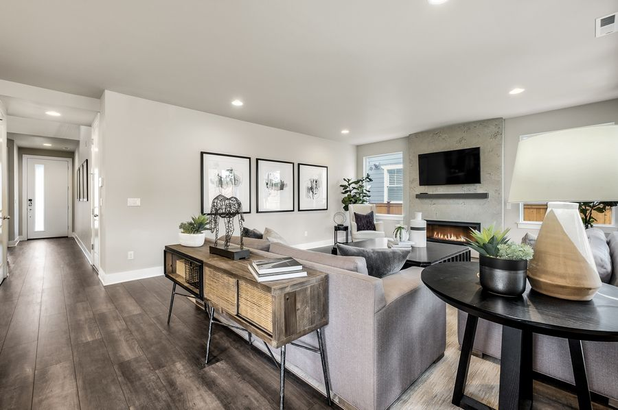 Living Area featured in the Residence P-260 By Quadrant Homes in Seattle-Bellevue, WA