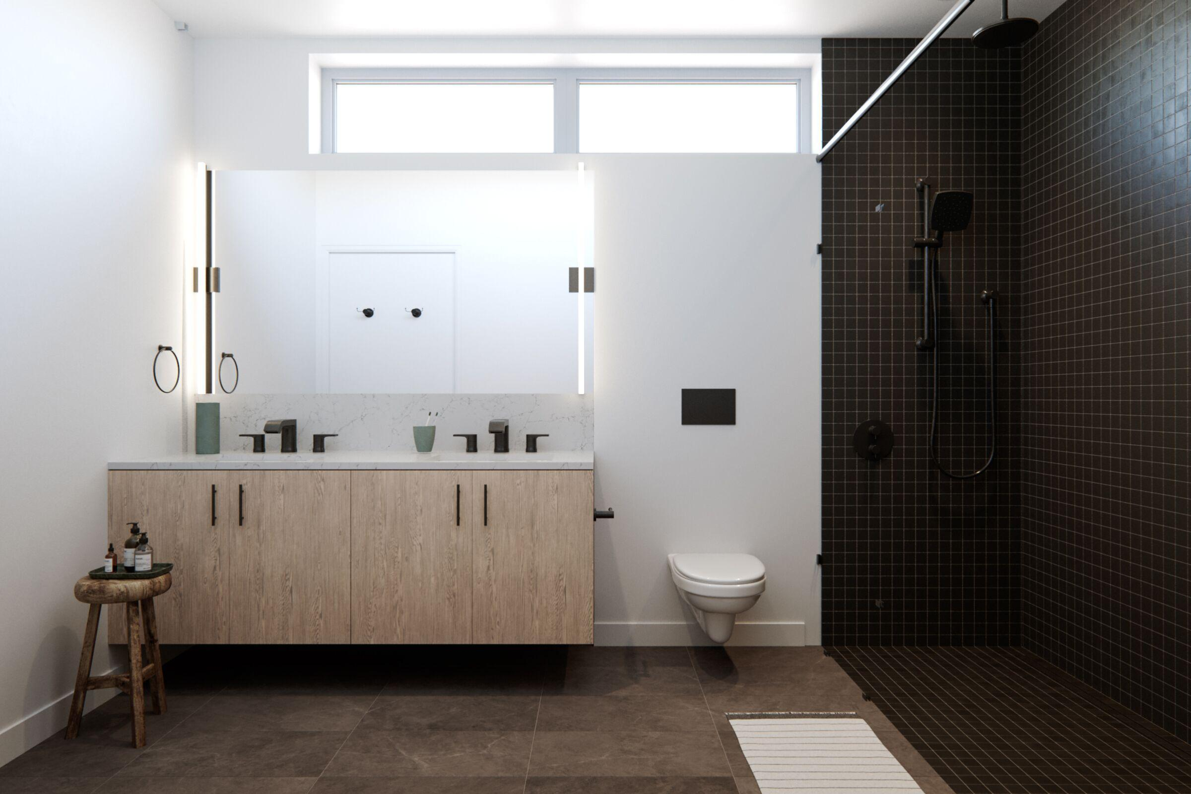 Bathroom featured in the Plan B-Fairfax at Sunset By RC Homes Inc in Los Angeles, CA