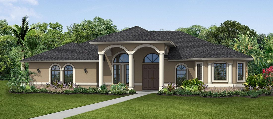 Exterior featured in the Grand Martinique By RJM Homes in Palm Beach County, FL
