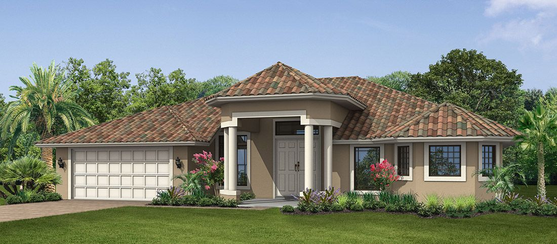 Exterior featured in the Pinewood 6 By RJM Homes in Palm Beach County, FL