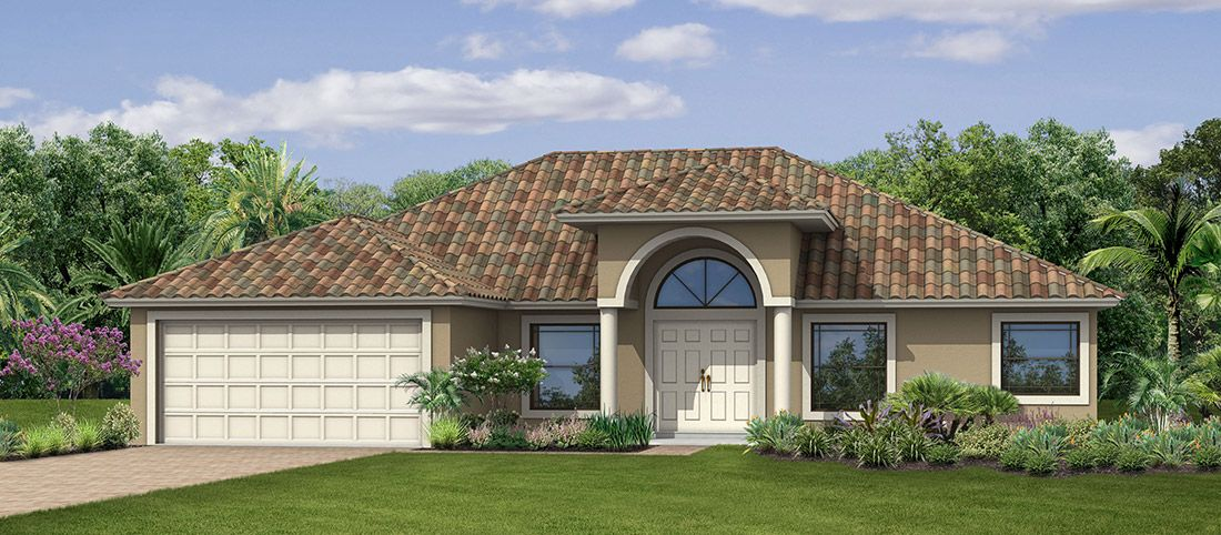 Exterior featured in the Wildflower S By RJM Homes in Palm Beach County, FL