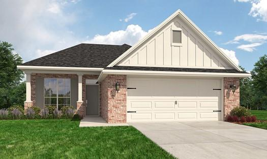 Exterior featured in the Plan 1405 By Ranger Homes in Bryan-College Station, TX