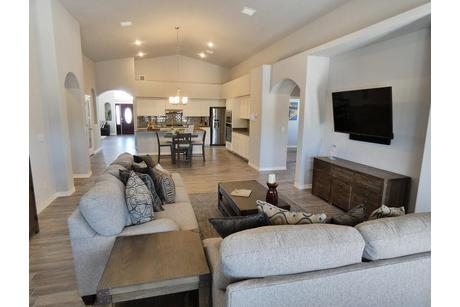 Greatroom-and-Dining-in-2400 Plan-at-Redd Road Estates-in-El Paso