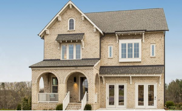 Detailed brick exterior:Rustic finishes and a cozy, welcoming front porch.