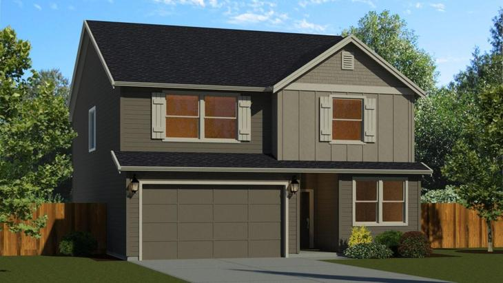 The 2366 with 2 Car Garage:Elevation A