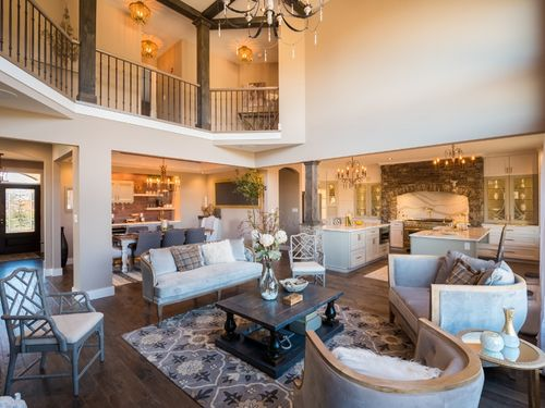 Greatroom-and-Dining-in-The Anemone-at-Mountain View at Gardiner-in-New Paltz