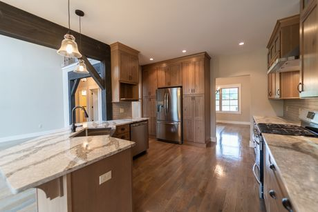 Kitchen-in-The Thistle-at-Mountain View at Gardiner-in-New Paltz