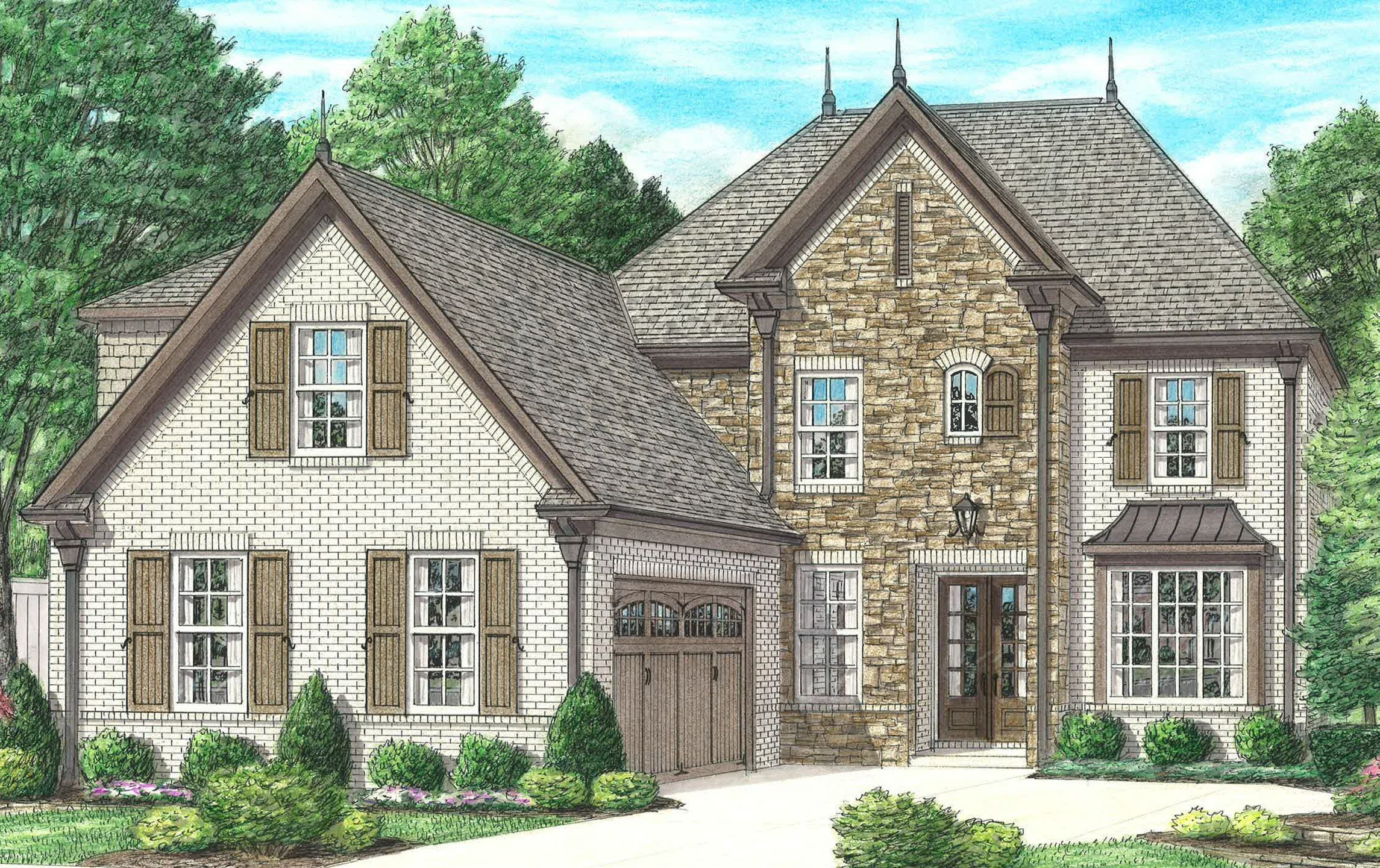 Exterior featured in the Avery By Regency Homebuilders in Memphis, TN