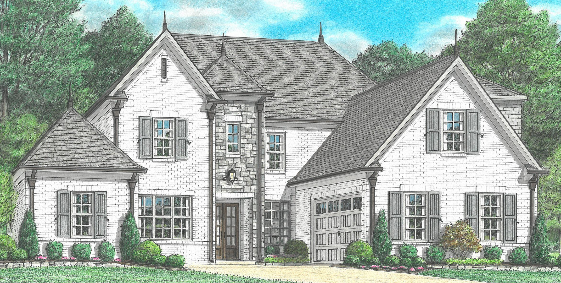 Exterior featured in the Yates By Regency Homebuilders in Memphis, TN