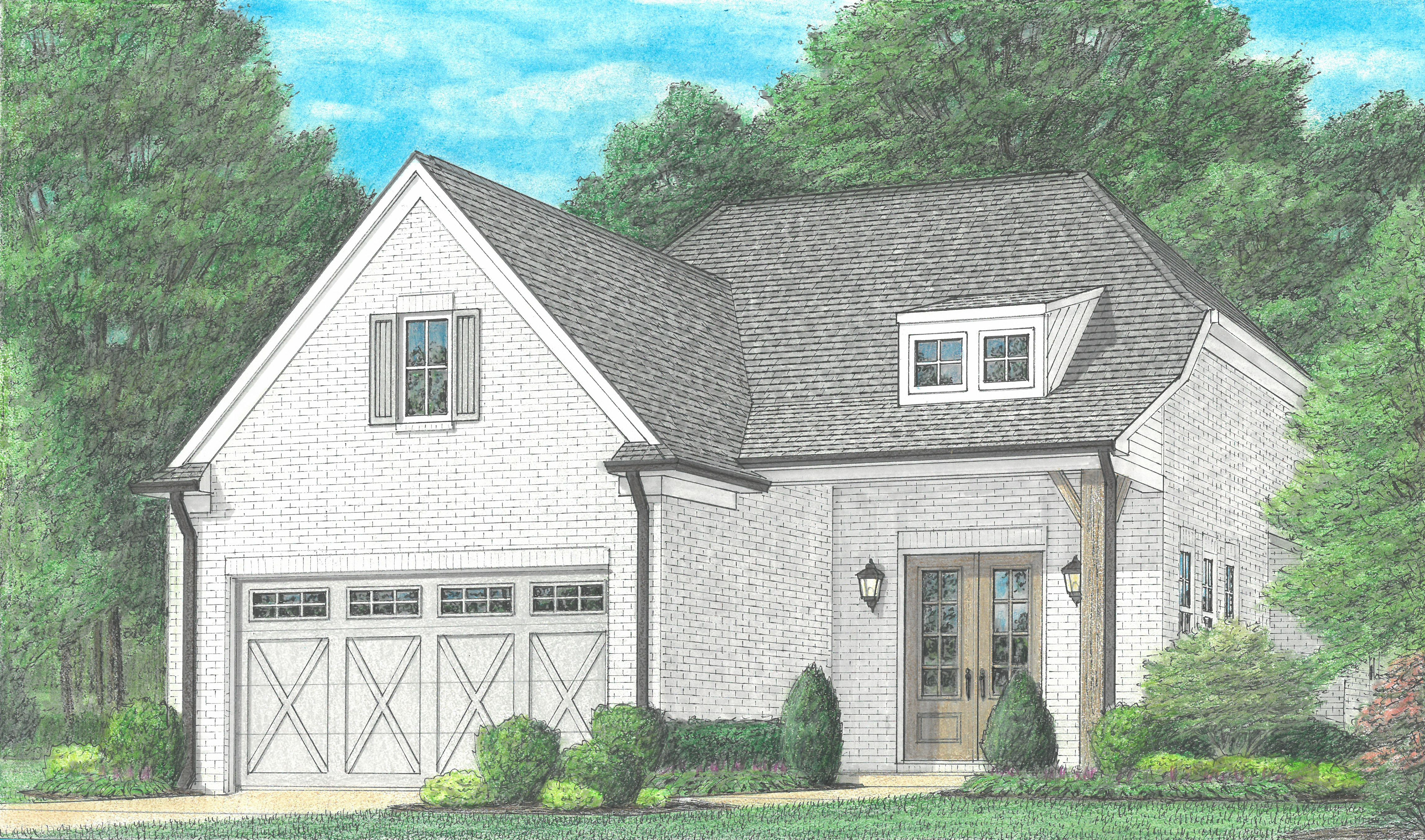 Exterior featured in the Benson By Regency Homebuilders in Memphis, TN