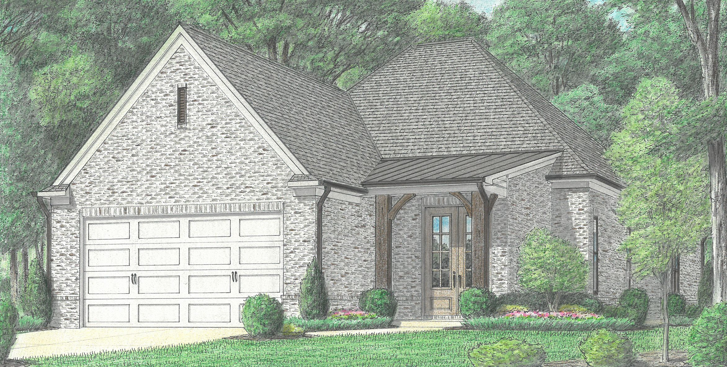 Exterior featured in the Foster By Regency Homebuilders in Memphis, TN