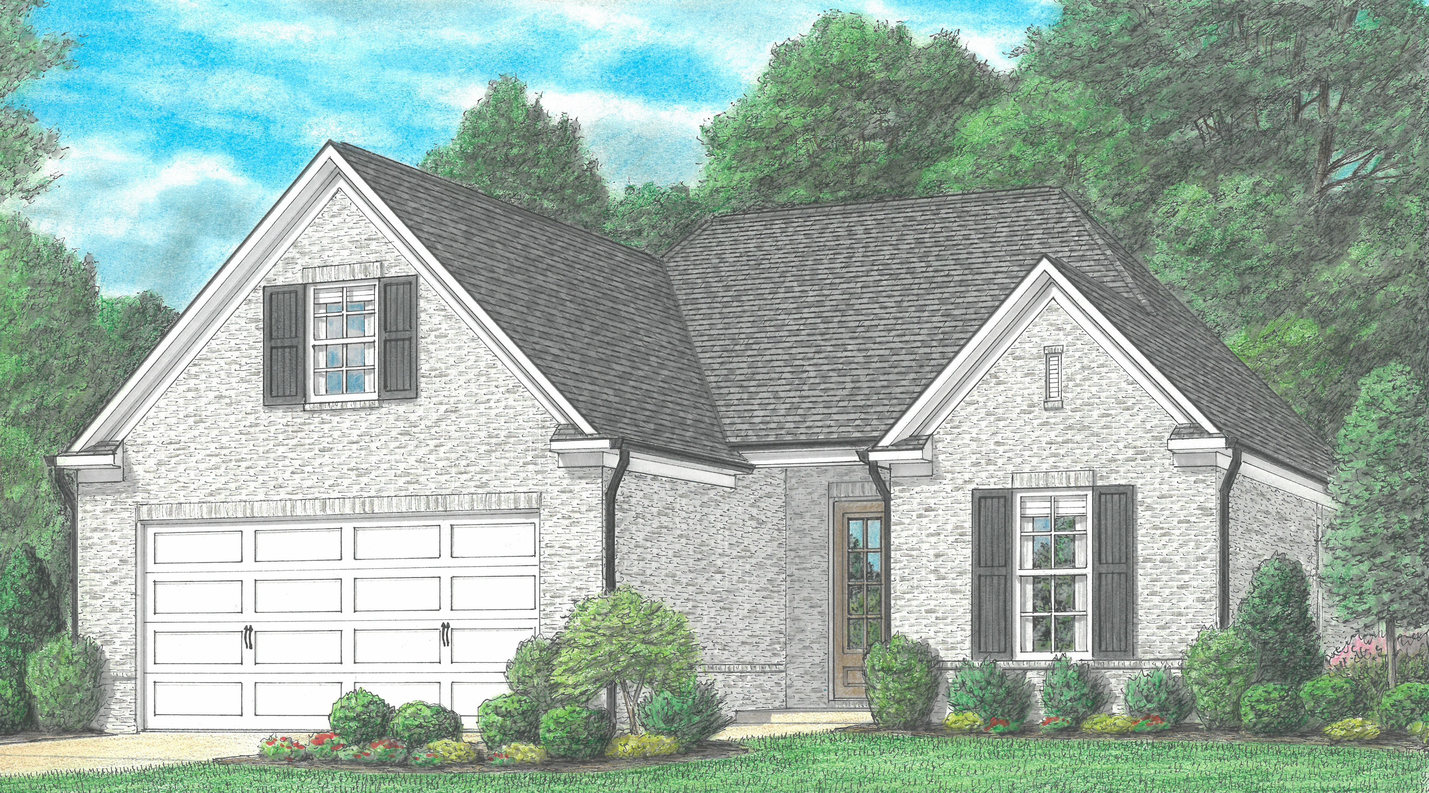 Exterior featured in the Edenshire By Regency Homebuilders in Memphis, MS
