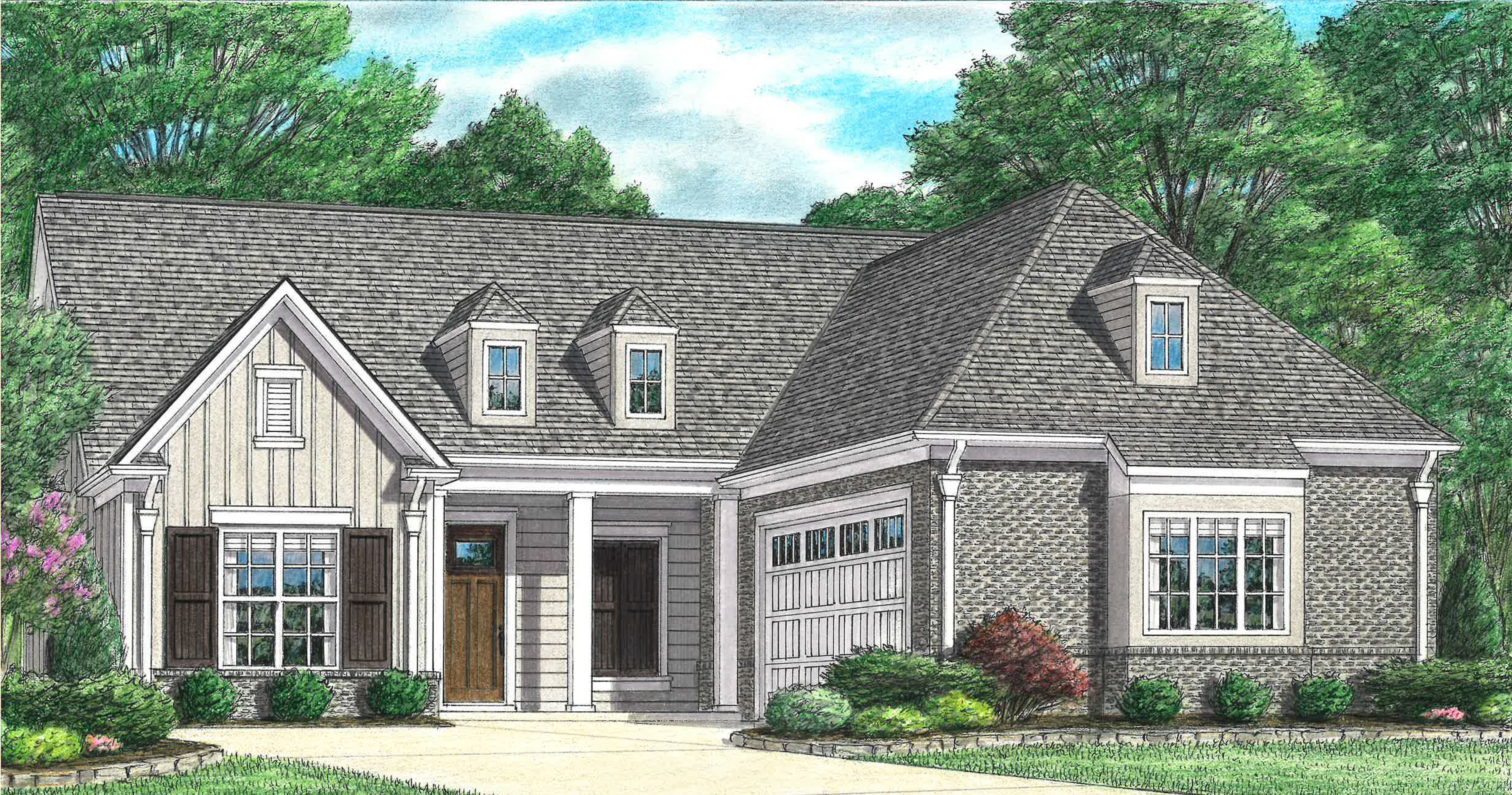 Exterior featured in the Conway By Regency Homebuilders in Memphis, MS