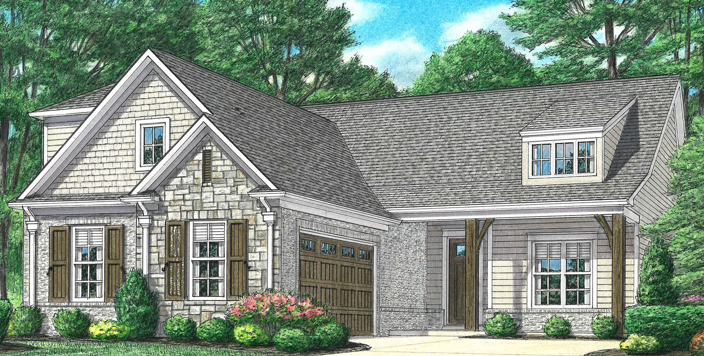 Exterior featured in the Charleston By Regency Homebuilders in Memphis, MS