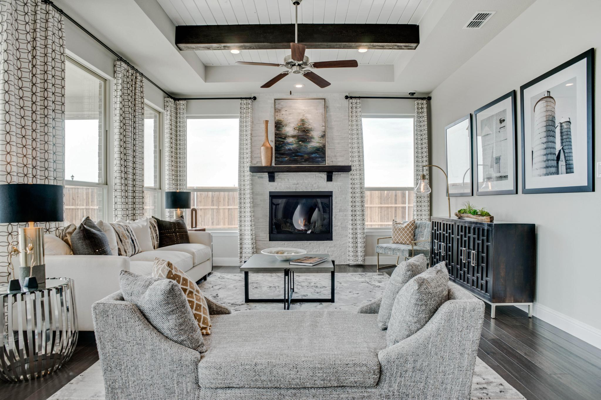 Living Area featured in the Mezzo By Rendition Homes in Fort Worth, TX