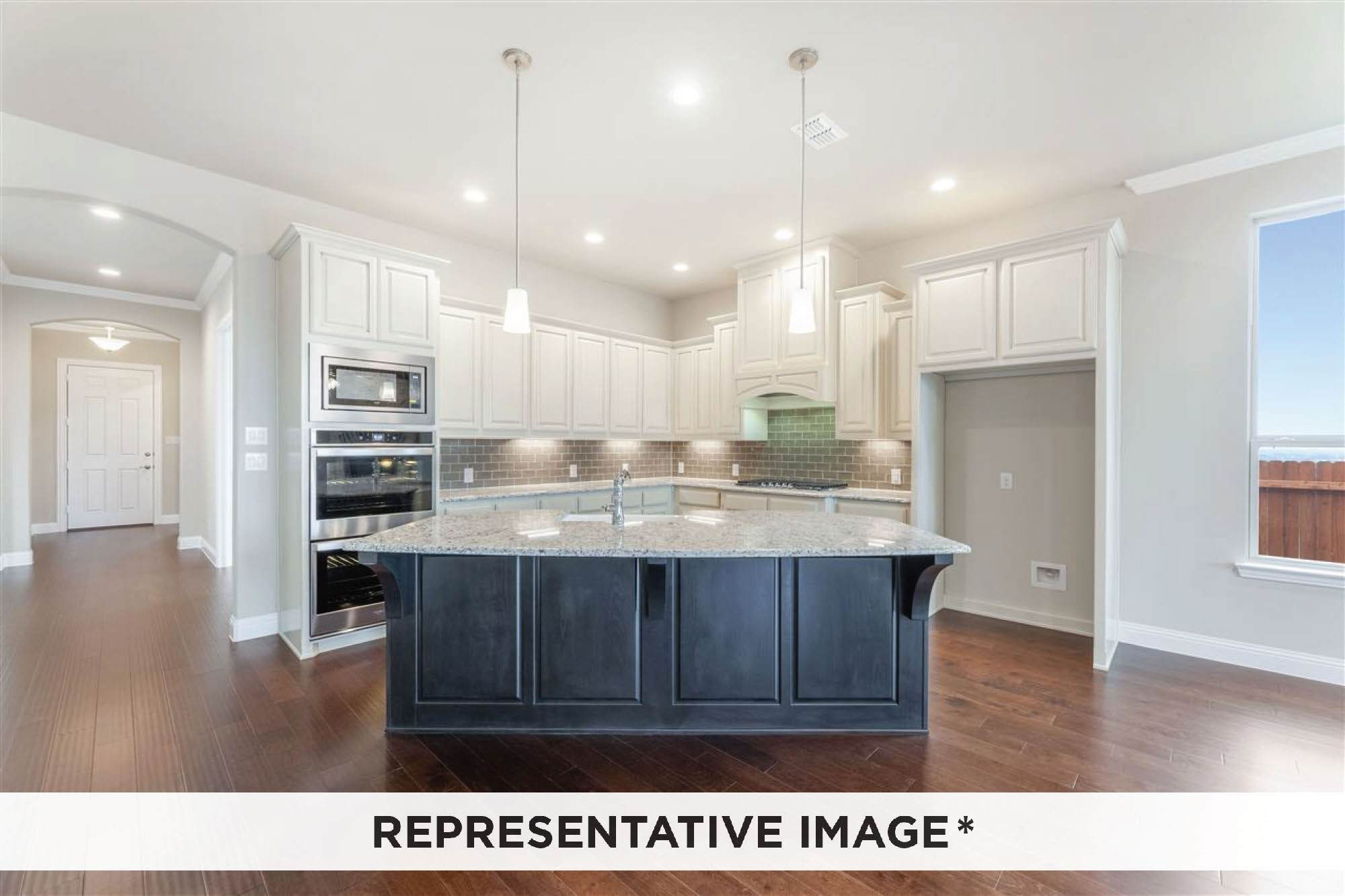Kitchen featured in the Adagio By Rendition Homes in Dallas, TX